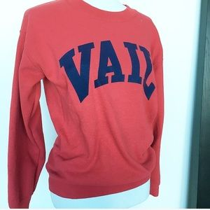 RED AND NAVY VAIL COLORADO OVERSIZED SWEATSHIRT